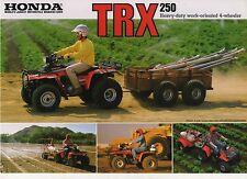 1986 HONDA TRX 250G 4 wheeler 2 Page ATV Motorcycle Sales Brochure NCS