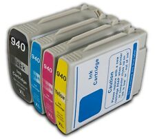4 Ink Cartridges Compatible with HP 940XL OfficeJet Pro 8000 8500 A909n A909g