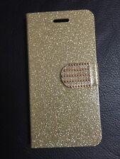For iPhone 6 phone case wallet folding bling diamond leather Gold Cover