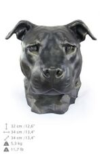 Amstaff type 2 - dog head resin figurine, high quality, Art Dog