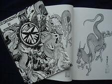 Japanische Tattoo Vorlagen Book Buch 100 Drachen 210mm x 285mm DIN A4