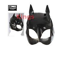 Vestido de lujo Vinilo Negro Máscara De Gato Mascarada Mascarilla Cat Mujer Orejas De Gato de vestir