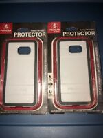 Lot Of 2pc Pelican Protector Case For Samsung Galaxy S6 Edge +  White/grey