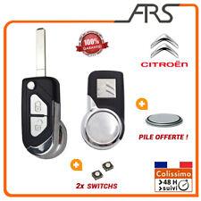 Coque Clé Télécommande 2 BOUTONS Citroen DS3 DS4 C1 C2 C3   VA2 + PILE + Switchs