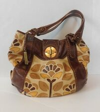 NEW LOCKHEART Leather Designer Purse Handbag Satchel Hobo Hippie Flowers Boho