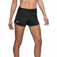 Under Armour UA HeatGear Speedpocket Ladies Black Sports Running Shorts
