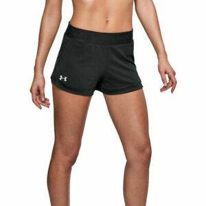 Under Armour UA HeatGear Speedpocket Ladies Black Sports Running Shorts XS