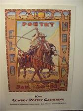 COWBOY Poetry 1994  Poster from the Poetry Gathering at  Elko Nevada