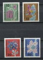 38882) Germany 1963 MNH Flowers 4v
