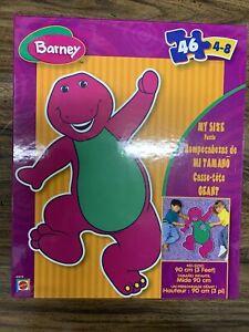 Baby Bop Puppet Circus Barney Curtain Panel Safari Christmas Purple Dinosaur PLAYSKOOL B J Play Ball Wood Tray Puzzle Farm Book