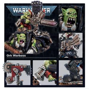 Warhammer 40k Ork Warboss in Mega Armour New On Sprues