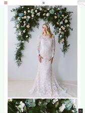 Wedding  Dress, Blush Color, Overlay With Long sleeve 2017