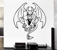 Wall Decal Gargoyle Monster Wings Horns Tail Evil Monster Vinyl Stickers (ed191)