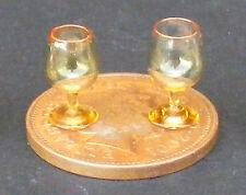 1:12 Escala 2 Amarillas Copas De Vino Casa de muñecas en miniatura accesorios gla5
