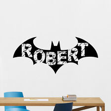 Personalized Batman Wall Decal Custom Name Vinyl Sticker Superhero Poster 174zzz