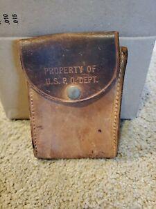 Vintage U.S. MAIL Embossed Leather Belt Pouch PROPERTY OF U.S. P.O. DEPT.