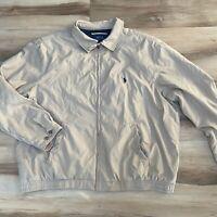 Polo Ralph Lauren Beige Harrington Lined Full Zip Jacket Size 2X Big