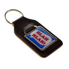 BLAH BLAH Urban Slang Design Key Ring, Bonded Leather Key Fob - XKFS078