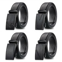 Luxury Men's Automatic Buckle Belt Leather Belts Waist Ratchet Leisure Waistband