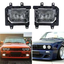 Pair Car Clear Front Bumper Driving Fog Lights for BMW E30 318i 318is 325i 85-93