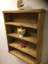 Industrial style reclaimed wood Rustic SHELF WALL Vintage antique handmade Unit