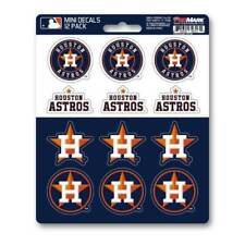 Houston Astros Set Of 12 Vinyl Sticker Decal Sheet