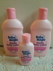 New Baby Magic Gentle Baby Lotion Lot of 3. Original Baby Sent.