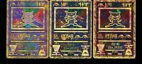 Pokemon Card Lot of 3 Ancient Mew Rare Holo Promos Japanese Error Corrected Eng