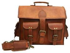 Vintage Bag Leather Handmade Men Satchel Shoulder Crossbody Laptop School Bag