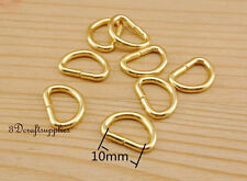 d ring d-rings purse ring Webbing Strapping metal gold 10mm 3/8 inch 40pcs AC120