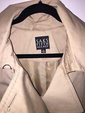 $598 SAKS FIFTH AVENUE Rain ☔️ Coat Overcoat Double Breasted XL New!!