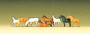 Preiser 88578 Spur Z Figuren, Pferde #NEU in OVP#