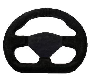 """10"""" Steering Wheel Single Seater Black Suede black Spars Kit Rally Racing STR"""