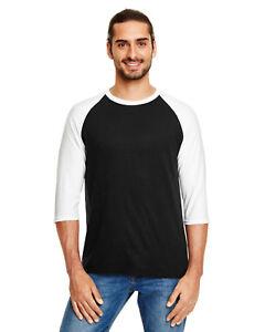 NEW Anvil Men's Triblend 3/4 Sleeve Raglan T-Shirt M-6755