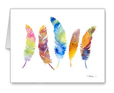 FEATHERS Note Cards With Envelopes