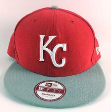 Kansas City Royals Snapback Baseball Hat New Era 9Fifty Red Gray - Medium/Large