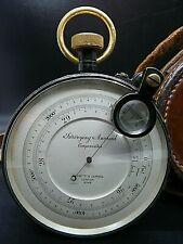 Antique Negretti & Zambra Surveyors barometer 9544