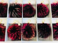 Michael Kors Key Pom Pom Bag Charm Real Fox Fur X-Large Large Discontinued NWT