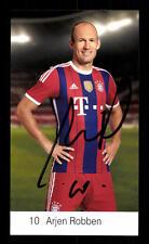 Arjen Robben Autogrammkarte Bayern München 2014-15 Original Signiert +C 1584