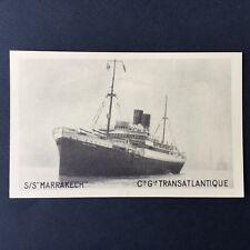 CPA Paquebot CGT S/S Marrakech Navire Bateau Non Circulé