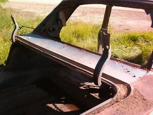 1966 1967 CHEVY 2 NOVA TRUNK FILLER PANEL AND HINGE ASSEMBLY