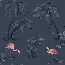 Blue and Pink Flamingo Wallpaper Animal Theme by Holden Statement 12382