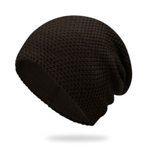 Big Size XL 58-63cm Winter Beanie Knit Hat for Men,Oversize Warm Thick Skullcap