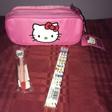 Sanrio Hello Kitty Pencil Case Bag/Pouch & Pencil Set Ballpoint Pen New