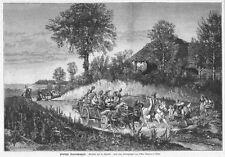 Polen, Polska, eine Bauernhochzeit,  Original-Holzstich von 1881