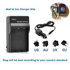 AC+DC Battery Charger for DE-A65 Panasonic Lumix DMC-ZS6 DMC-ZS7 DMC-ZS8 DMC-ZS9