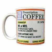 Rx Prescription Coffee Dr. Caffeine Mug White Coffee Lovers Funny Cute - 11oz