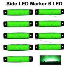 10X Green 12V DC 6 SMD LED Side Marker Rear Light for Truck Trailer Van Bus SUV