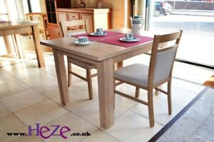 Extending dining table in oak sonoma, strong, high quality best on eBay!