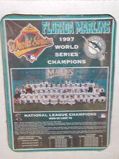 NIB 1997 FLORIDA MARLINS WORLD SERIES CHAMPIONS TEAM PHOTO WOOD PLAQUE 16X14X1